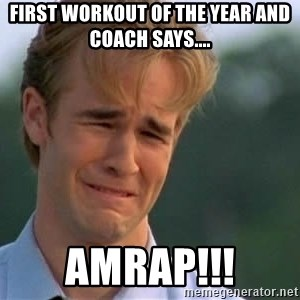 James Van Der Beek - First workout of the year and coach says.... AMRAP!!!