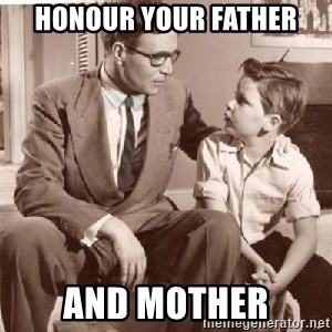 Racist Father - Honour your father And Mother