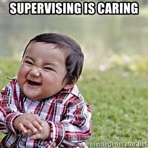 Evil Asian Baby - supervising is caring