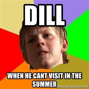 Angry School Boy - dill  when he cant visit in the summer