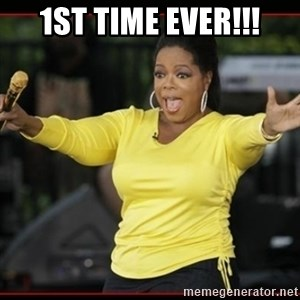 Overly-Excited Oprah!!!  - 1st time ever!!!
