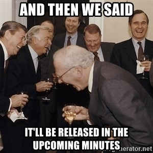 So Then I Said... - and then we said It'll be released in the upcoming minutes