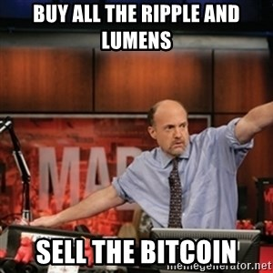 Jim Kramer Mad Money Karma - Buy all the Ripple and Lumens Sell the Bitcoin