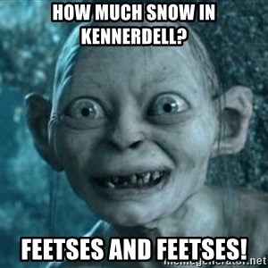 My Precious Gollum - How Much Snow in Kennerdell? Feetses and Feetses!