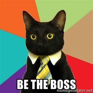 Business Cat - be the boss
