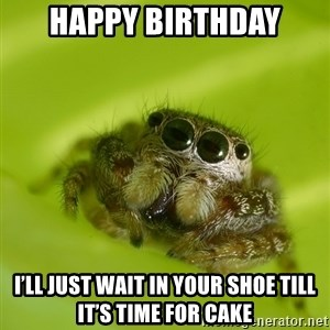 The Spider Bro - Happy Birthday I'll just wait in your shoe till it's time for cake