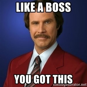 Anchorman Birthday - Like a boss You got this