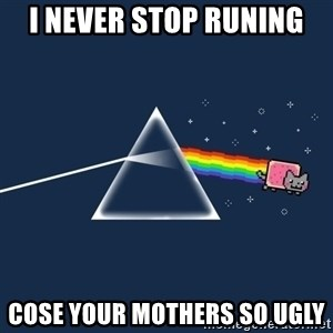 nyan cat - i never stop runing cose your mothers so ugly