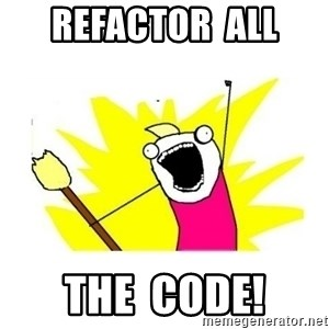 clean all the things blank template - Refactor  all the  code!