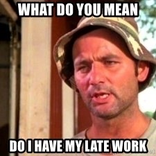 Bill Murray Caddyshack - what do you mean  do i have my late work