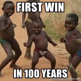 african children dancing - first win in 100 years