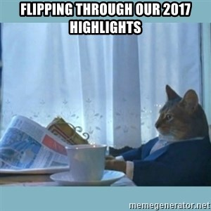 rich cat  - Flipping through our 2017 highlights