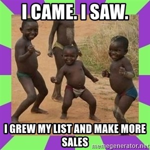 african kids dancing - I Came. I Saw.  I Grew My List And Make More Sales