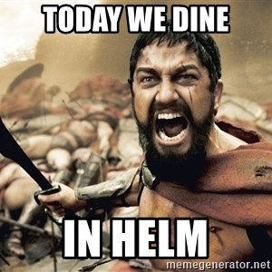 Spartan300 - today we dine in helm