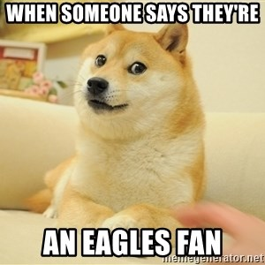 so doge - When someone says they're an eagles fan