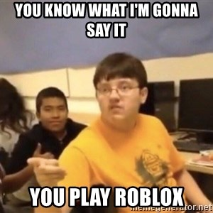 You know what I'm gonna say it - you know what i'm gonna say it you play ROBLOX