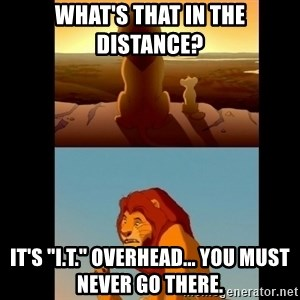 """Lion King Shadowy Place - What's that in the distance? It's """"I.T."""" overhead... you must never go there."""
