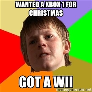 Angry School Boy - Wanted a Xbox 1 for christmas Got a wii