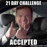 Barney Stinson - 21 Day Challenge  Accepted