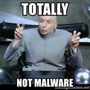 dr. evil quotation marks - totally not malware