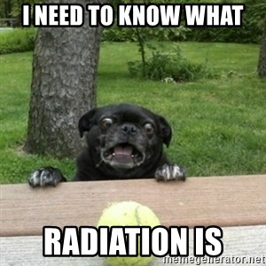 Ermahgerd Pug - i need to know what  radiation is