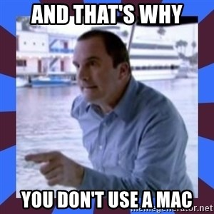J walter weatherman - And that's why You don't use a mac