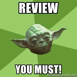 Advice Yoda Gives - REVIEW YOU MUST!