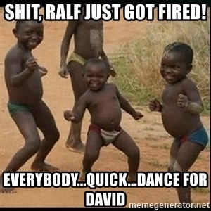 Dancing black kid - Shit, Ralf just got fired! Everybody...quick...dance for David