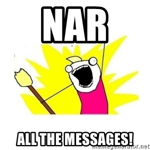 clean all the things blank template - NAR  ALL THE MESSAGES!