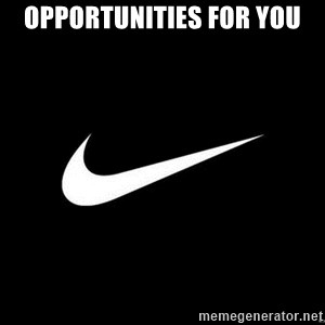 Nike swoosh - Opportunities for you