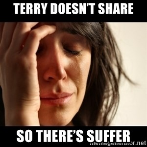 crying girl sad - Terry doesn't share So there's suffer