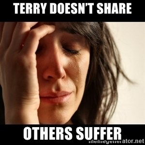 crying girl sad - Terry doesn't share Others suffer