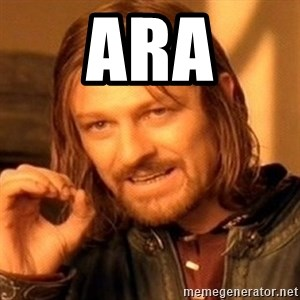 One Does Not Simply - ARA