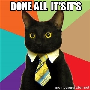 Business Cat - Done All  It'sIt's