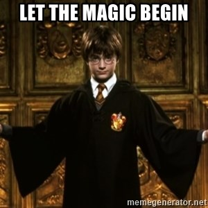 Harry Potter Come At Me Bro - Let the magic begin