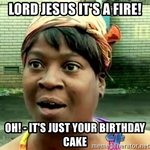 oh lord jesus it's a fire! - Lord Jesus It's a fire! Oh! - it's just your birthday cake