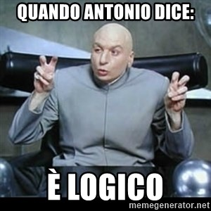 dr. evil quotation marks - quando antonio dice: è logico