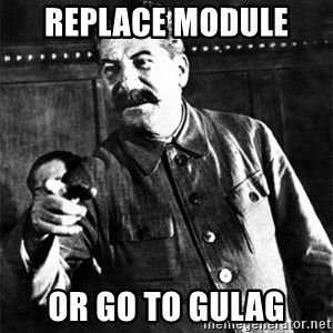 Joseph Stalin - replace module  or go to GULAG