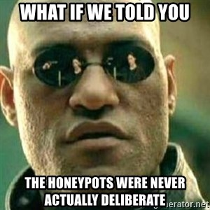 What If I Told You - What if we told you The honeypots were never actually deliberate