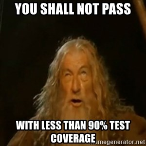 Gandalf You Shall Not Pass - You shall not pass with less than 90% test coverage
