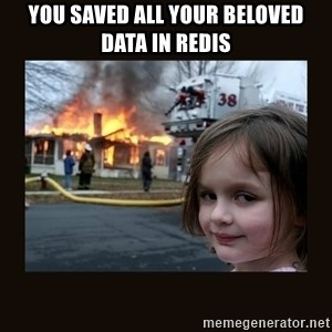 burning house girl - You saved all your beloved data in redis