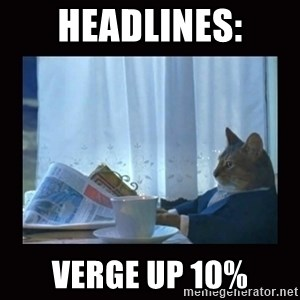 i should buy a boat cat - Headlines: Verge up 10%