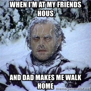 Frozen Jack - When I'm at my friends hous And dad makes me walk home