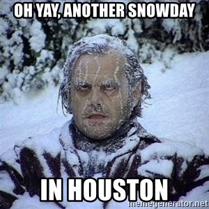 Frozen Jack - Oh yay, another snowday In houston