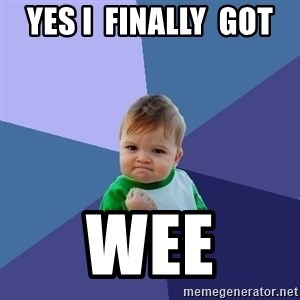 Success Kid - Yes I  finally  got  Wee