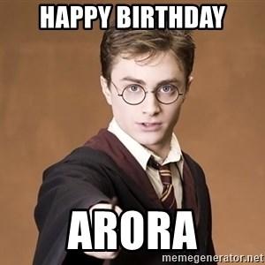 Advice Harry Potter - HAPPY BIRTHDAY Arora
