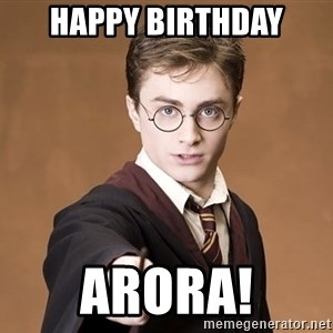 Advice Harry Potter - HAPPY BIRTHDAY Arora!
