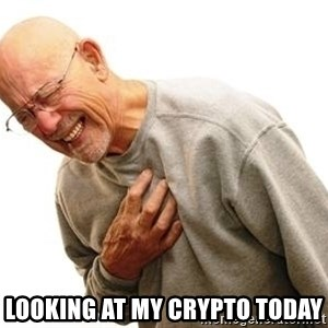 Old Man Heart Attack - looking at my crypto today