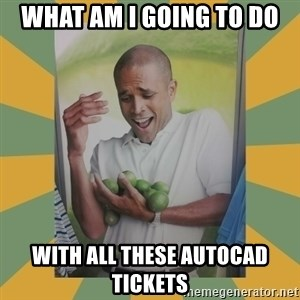 Why can't I hold all these limes - what am i going to do with all these autocad tickets