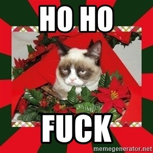 GRUMPY CAT ON CHRISTMAS - Ho ho Fuck